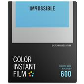 Impossible Project Polaroid Instant Colour Film with Silver Frame