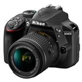 Nikon D3400 Digital SLR in Black + 18-55mm f/3.5-5.6 AF-P Non VR Lens