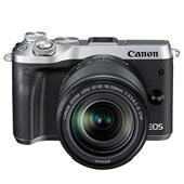 Canon EOS M6 Mirrorless Camera in Silver with 18-150mm Lens