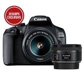 Canon EOS 2000D Digital SLR with EF-S 18-55mm IS II Lens + 50mm f1.8 STM Lens