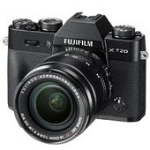 Fujifilm X-T20 Mirrorless Camera in Black with 18-55mm Lens