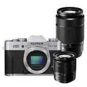 Fujifilm X-T20 Mirrorless Camera Body in Silver with XC 16-50mm lens and XC 50-230mm Lens