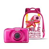 Nikon Coolpix W100 Digital Camera in Pink with Backpack
