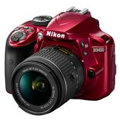 Nikon D3400 Digital SLR in Red with 18-55mm f/3.5-5.6 AF-P VR Lens