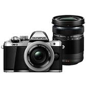 Olympus OM-D E-M10 Mark II Compact System Camera in Silver with 14-42mm EZ and 40-150mm R Lens