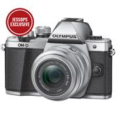 Olympus OM-D E-M10 Mark II Compact System Camera in Silver with 14-42mm Lens