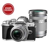 Olympus OM-D E-M10 Mark III Mirrorless Camera in Silver with 14-42mm and 40-150mm R Lenses
