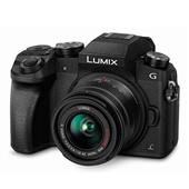 Panasonic Lumix DMC-G7 Compact System Camera in Black + 14-42mm Lens