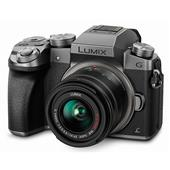 Panasonic Lumix DMC-G7 Compact System Camera in Silver with 14-42mm Lens