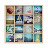 Umbra Grid Art Photo Display Multi 160P Natural Frame