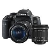 Canon EOS 750D Digital SLR with 18-55mm IS STM Lens  and 10-18mm IS STM Lens