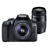 Canon EOS 1300D Digital SLR with EF-S 18-55mm f/3.5-5.6 DC III Lens and Tamron 70-300mm Macro Lens