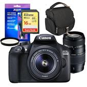 Canon EOS 1300D Digital SLR with 18-55mm DC Lens and Tamron 70-300mm Lens and Accessories Bundle