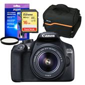 Canon EOS 1300D Digital SLR with EF-S 18-55mm IS II Lens and Accessories Bundle