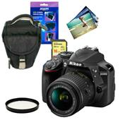 Nikon D3400 Digital SLR in Black with 18-55mm f/3.5-5.6 AF-P VR Lens and Accessories Bundle