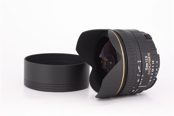 Sigma 15mm, f2.8 EX DG Diagonal fisheye for Nikon AF