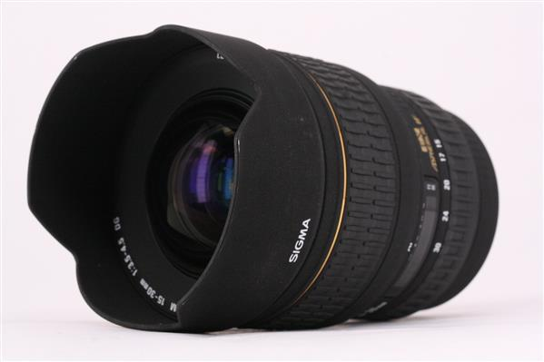 Sigma 15-30mm f/3.5-4.5 EX DG Canon AF