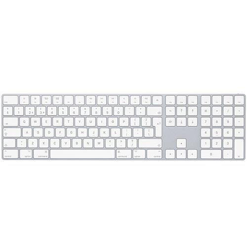 Magic Bluetooth keyboard Qwerty UK English with Numeric Keypad in Silver White Product Image (Primary)