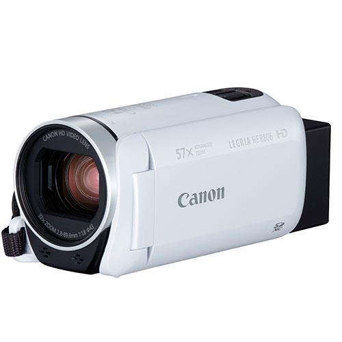 Legria HF R806 Camcorder in White Product Image (Secondary Image 2)