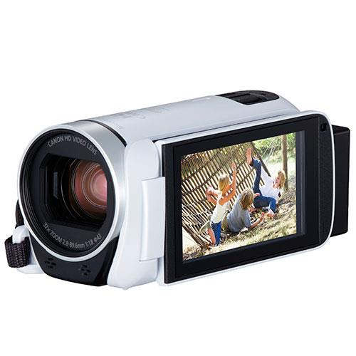 Legria HF R806 Camcorder in White Product Image (Secondary Image 3)