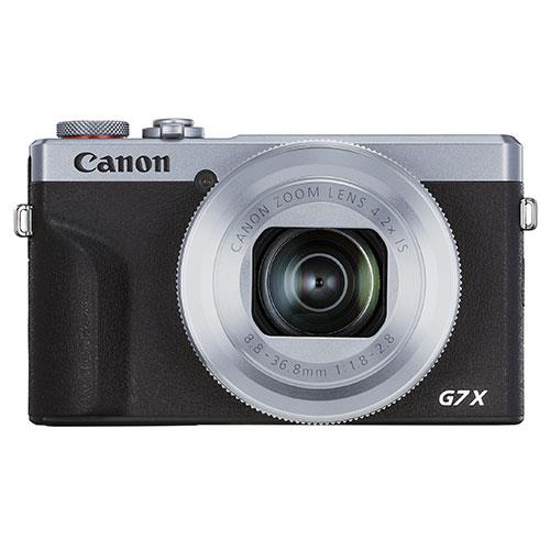 PowerShot G7 X Mark III Digital Camera in Silver Product Image (Primary)
