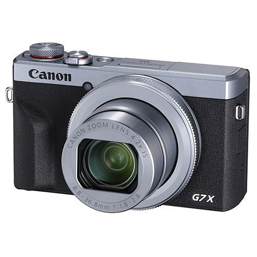 PowerShot G7 X Mark III Digital Camera in Silver with Extra Battery Product Image (Secondary Image 1)