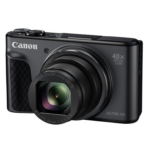 PowerShot SX730 HS Digital Camera in Black Product Image (Primary)