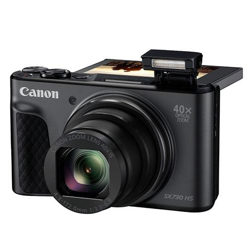 PowerShot SX730 HS Digital Camera in Black Product Image (Secondary Image 3)