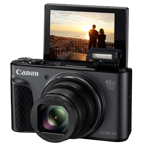 PowerShot SX730 HS Digital Camera in Black Product Image (Secondary Image 4)