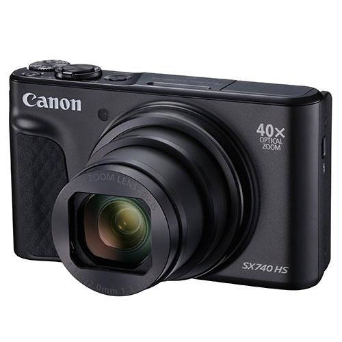 PowerShot SX740 HS Camera in Black Product Image (Primary)