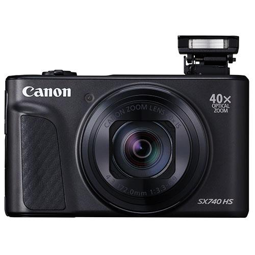 PowerShot SX740 HS Camera in Black Product Image (Secondary Image 1)