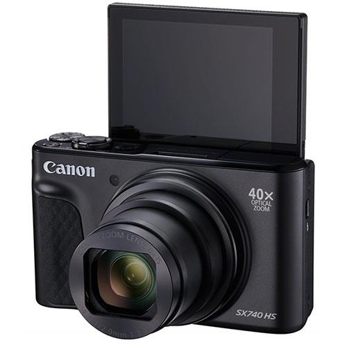 PowerShot SX740 HS Camera in Black Product Image (Secondary Image 3)
