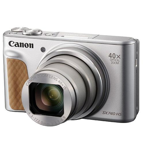 PowerShot SX740 HS Camera in Silver Product Image (Primary)