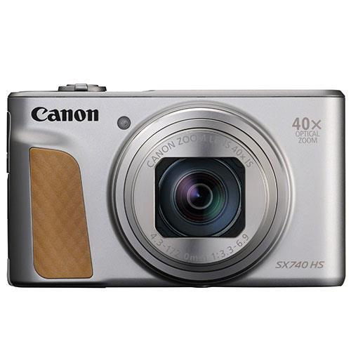 PowerShot SX740 HS Camera in Silver Product Image (Secondary Image 1)