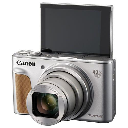 PowerShot SX740 HS Camera in Silver Product Image (Secondary Image 3)