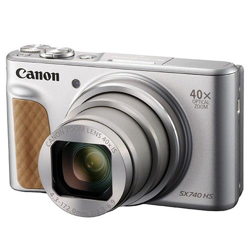 PowerShot SX740 HS Camera in Silver with Canon Case & Joby GorillaPod Product Image (Secondary Image 1)
