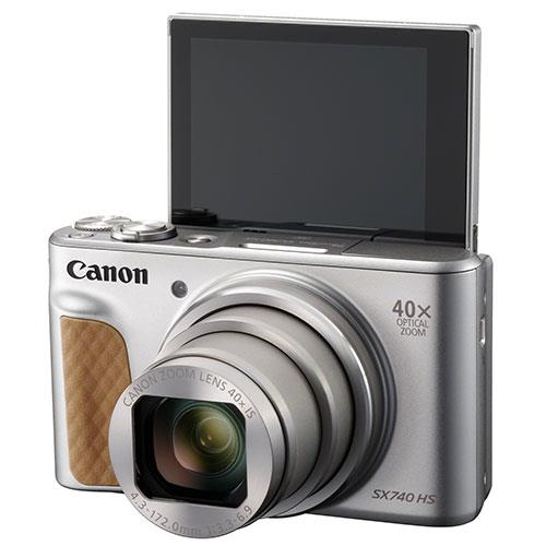 PowerShot SX740 HS Camera in Silver with Canon Case & Joby GorillaPod Product Image (Secondary Image 3)