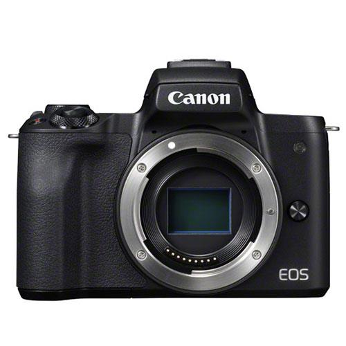 EOS M50 Mirrorless Camera Body in Black Product Image (Primary)
