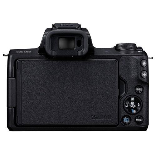 EOS M50 Mirrorless Camera Body in Black Product Image (Secondary Image 3)