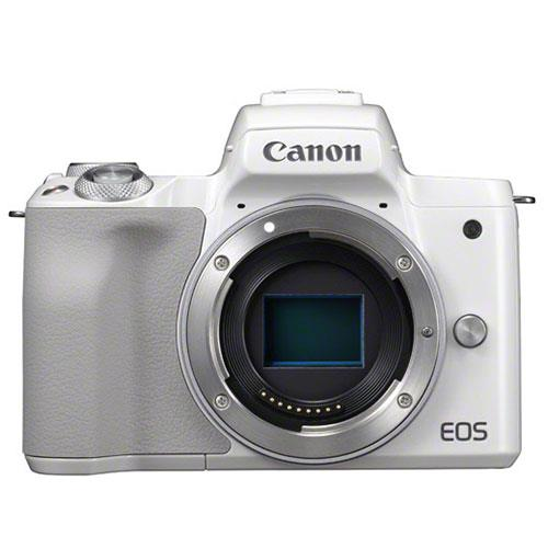 EOS M50 Mirrorless Camera Body in White Product Image (Primary)