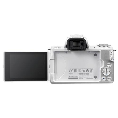EOS M50 Mirrorless Camera Body in White Product Image (Secondary Image 2)