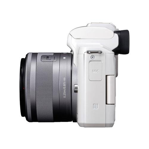 EOS M50 Mirrorless Camera in White with EF-M 15-45mm STM Lens Product Image (Secondary Image 7)