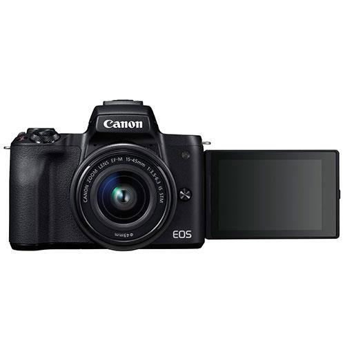 EOS M50 Mirrorless Camera in Black with EF-M 15-45mm IS STM and EF-M 22mm f/2 STM Lenses Product Image (Secondary Image 3)