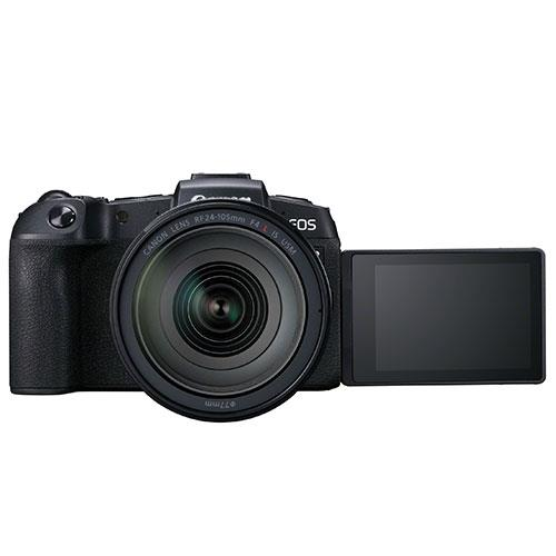 EOS RP Mirrorless Camera with RF 24-105mm f/4 L IS USM Lens and Mount Adapter Product Image (Secondary Image 1)