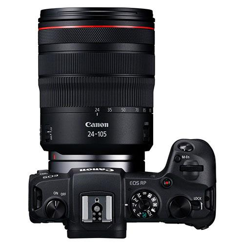 EOS RP Mirrorless Camera with RF 24-105mm f/4 L IS USM Lens and Mount Adapter Product Image (Secondary Image 3)