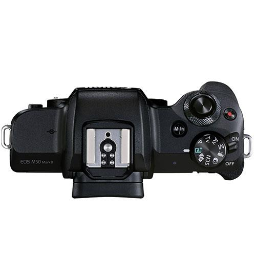 EOS M50 Mark II Mirrorless Camera Body in Black Product Image (Secondary Image 3)