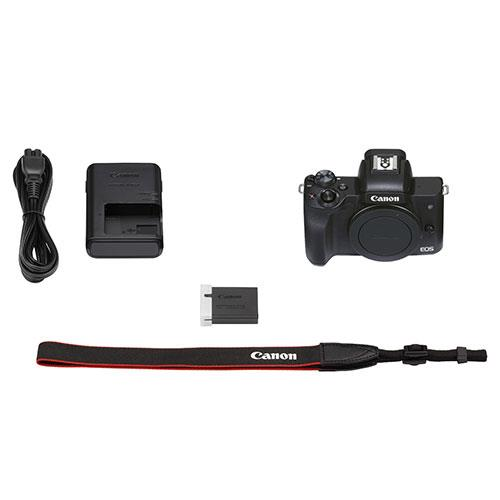 EOS M50 Mark II Mirrorless Camera Body in Black Product Image (Secondary Image 10)