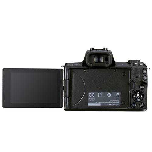 EOS M50 Mark II Mirrorless Camera in Black with EF-S 15-45mm Lens Product Image (Secondary Image 2)