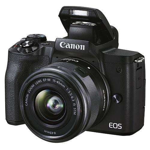EOS M50 Mark II Mirrorless Camera in Black with EF-S 15-45mm Lens Product Image (Secondary Image 3)