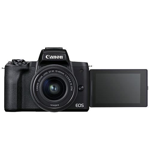 EOS M50 Mark II Mirrorless Camera in Black with EF-S 15-45mm Lens Product Image (Secondary Image 4)